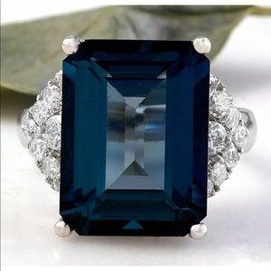 🦋 London Blue Topaz Emerald Cut 5 carat .925